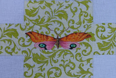 click here to view larger image of Butterfly Brick Cover (hand painted canvases)