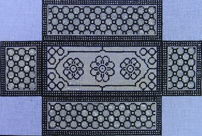 click here to view larger image of Black/White Pattern Brick Cover (hand painted canvases)