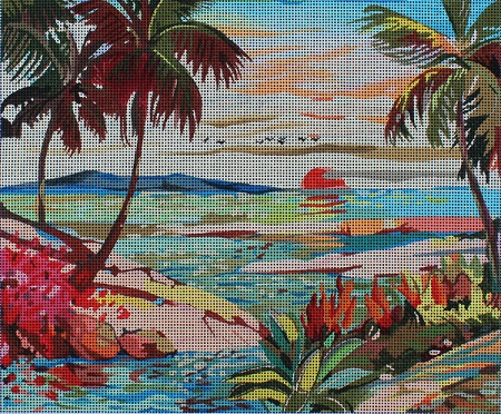 click here to view larger image of Day is Done (hand painted canvases)