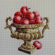 click here to view larger image of Apples in Vase (hand painted canvases)
