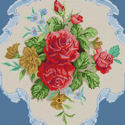 click here to view larger image of Victorian Rose Bouquet (hand painted canvases)