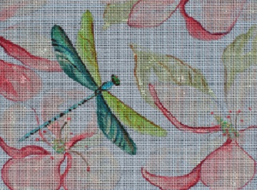 click here to view larger image of Dragonflies and Magnolias (hand painted canvases)