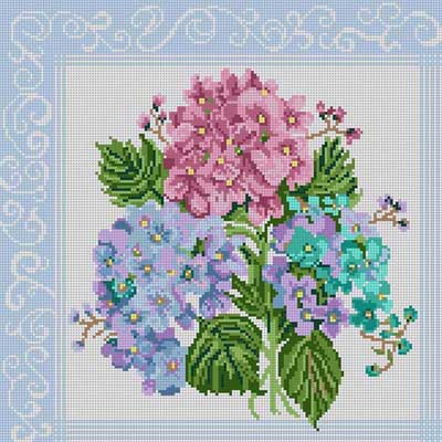 click here to view larger image of Hydrangea (hand painted canvases)