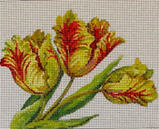 click here to view larger image of Parrot Tulips (hand painted canvases)
