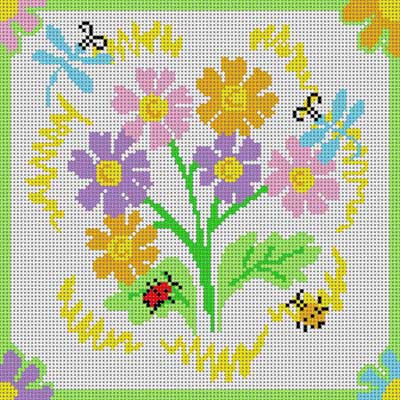 click here to view larger image of Daisy And Dragonflies (hand painted canvases)