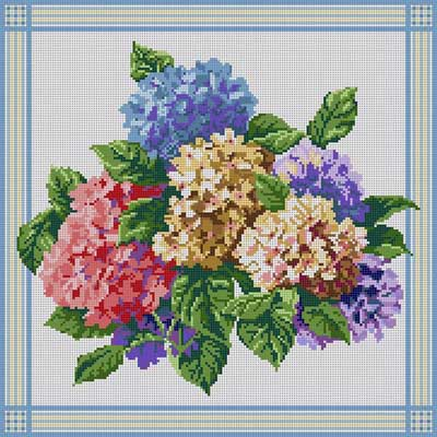 click here to view larger image of Hydrangeas (hand painted canvases)