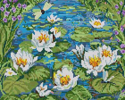 click here to view larger image of Water Lilies (hand painted canvases)