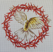 click here to view larger image of Dove/Crown of Thorns (hand painted canvases)