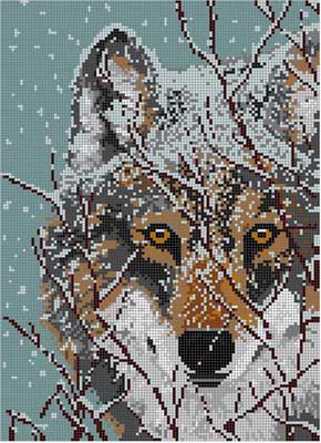click here to view larger image of Wolf (hand painted canvases)