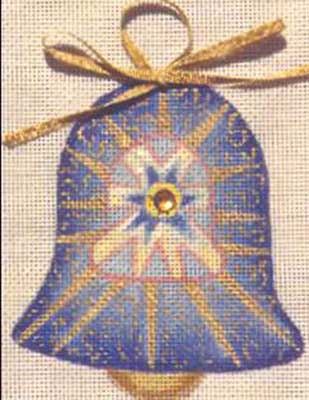 click here to view larger image of Blue Bell Ornament (hand painted canvases)