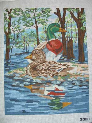 click here to view larger image of Mallards (hand painted canvases)