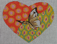click here to view larger image of Butterfly in Heart (hand painted canvases)