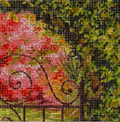click here to view larger image of Garden Gate (hand painted canvases)