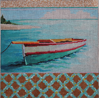 click here to view larger image of Caribbean Boat (hand painted canvases)