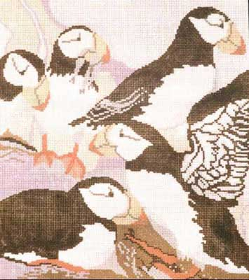 click here to view larger image of Glacier Bay Puffin (hand painted canvases)