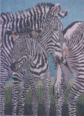 click here to view larger image of Zebras (hand painted canvases)