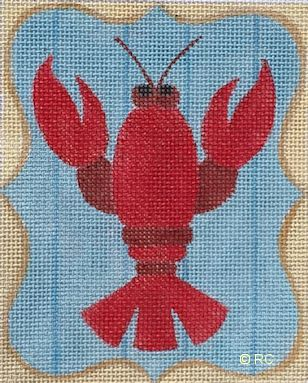 click here to view larger image of Lobster (hand painted canvases)