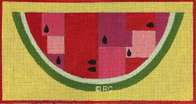 click here to view larger image of Watermelon Wedge (hand painted canvases)