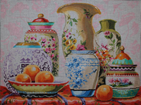 click here to view larger image of Vases (hand painted canvases)