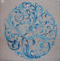 click here to view larger image of Blue Renaissance Design (hand painted canvases)