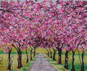 click here to view larger image of Blooming Tree Alley (hand painted canvases)
