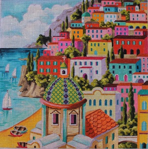 click here to view larger image of Greek Island Landscape (hand painted canvases)