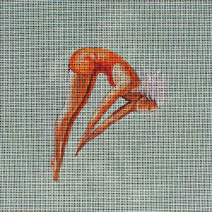 click here to view larger image of Woman Diver in Orange (hand painted canvases)