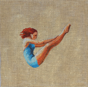 click here to view larger image of Woman Diver in Blue (hand painted canvases)