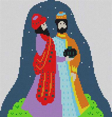 click here to view larger image of 2 Wisemen Nativity (hand painted canvases)