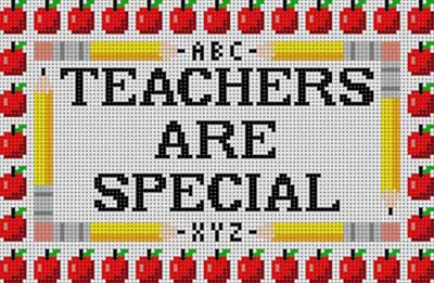 click here to view larger image of Teachers Are Special (hand painted canvases)