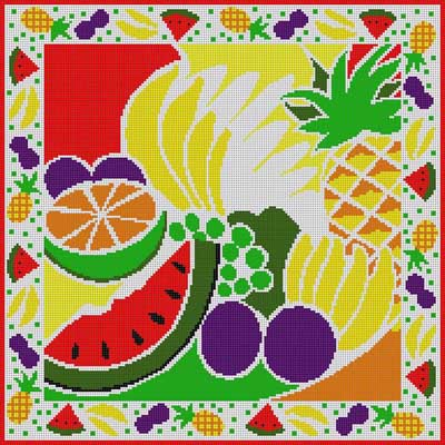 click here to view larger image of Fruit Collage (hand painted canvases)