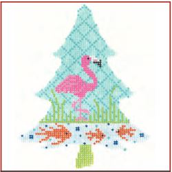 click here to view larger image of Tropics Flamingo Tree Stitch Guide (books)