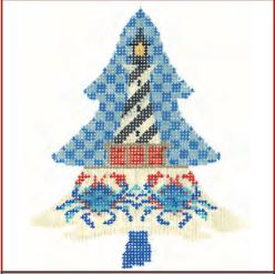 click here to view larger image of Coastal Lighthouse Tree Stitch Guide (books)
