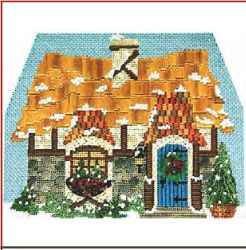 click here to view larger image of Winter Village - Gatekeepers Cottage (hand painted canvases)