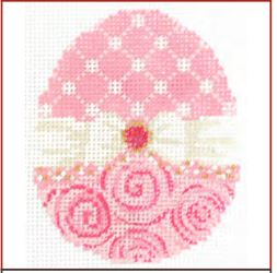 click here to view larger image of Cotton Candy Ribbon Egg Stitch Guide (books)