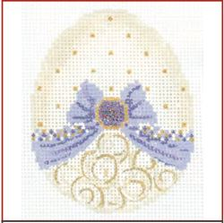 click here to view larger image of Vanilla and Lavender Ribbon Egg Stitch Guide (books)