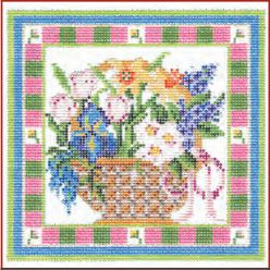 click here to view larger image of Spring Flowers Basket Stitch Guide (books)