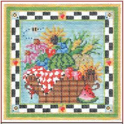 click here to view larger image of Summers Bounty Basket Stitch Guide (books)