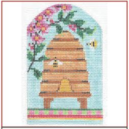 click here to view larger image of Spring Skep With Cherry Blossoms Stitch Guide (books)
