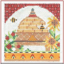 click here to view larger image of Sunny Provence Bee Skep Stitch Guide (books)