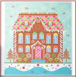 click here to view larger image of Advent Gingerbread House (hand painted canvases)