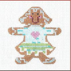 click here to view larger image of Gingerbread Girl Cookie (hand painted canvases)