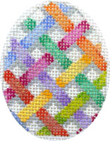 click here to view larger image of Criss Cross Mini Egg (hand painted canvases)