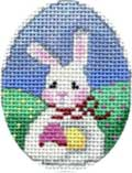 click here to view larger image of Bunny/Eggs Mini Egg (hand painted canvases)