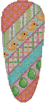 click here to view larger image of Chicks Diagonal Pattern Carrot (hand painted canvases)