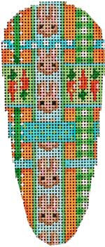 click here to view larger image of Bunnies Woven Ribbon Carrot (hand painted canvases)