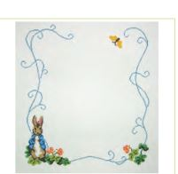 click here to view larger image of Beatrix Potter Birth Announcement Or Frame (hand painted canvases)