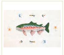 click here to view larger image of Trout Doorstop (hand painted canvases)