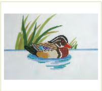 click here to view larger image of Wood Duck Doorstop (hand painted canvases)