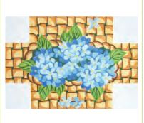 click here to view larger image of Hydrangea Doorstop (hand painted canvases)